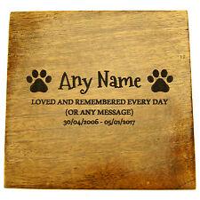 PET gatto Urna Mango in legno piccolo Memoriale Cremazione Ceneri Personalizzato Inciso