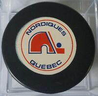 1972-75 NORDIQUES QUEBEC AMH VINTAGE WHA OLD OFFICIAL GAME PUCK MADE IN CANADA