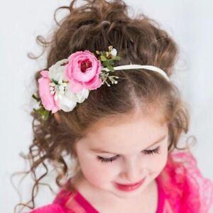 Hairband   AffIliates Flowers for Baby Girls Elastic Nylon Ribbon Birthday Prty