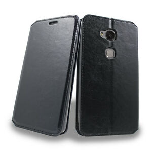 For Huawei Sensa H710 715 PU Leather Wallet Case Card Pocket Pouch Hybrid Cover