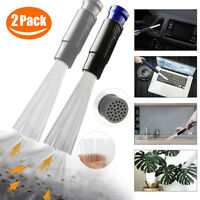2 Pack Dust Brush Cleaner Dirt Remover Universal Vacuum Attachment Clean Suction