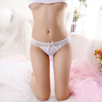 2Pack Womens Sexy Underwear Panties Cotton Lace Thong G-String Lingerie Knickers