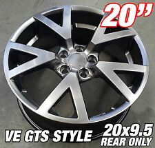 1 x 20x9.5 inch VE GTS HYPER BLACK Alloy Wheel HOLDEN COMMODORE VL VK VT VY VZ