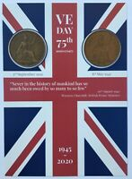 VE DAY FLAG 75th Anniversary Victory in Europe - Coins -1939 & 1945 8th May 2020