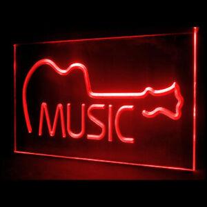 140022 Music Acoustic Guitar Bar Live Display LED Light Neon Sign