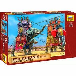 Zvezda 8011 War Elephants III-I B.C. (7 figures and 2 elephants) 1/72