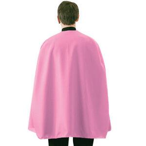 "ADULT SUPERHERO COSTUME CAPE MENS WOMENS 36"" COSTUME CAPE CLOAK BLACK RED BLUE"