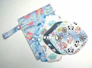 First Period Cloth Sanitary Pad Starter Set / Bamboo / Reusable / CSP UK SELLER