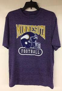 Minnesota Vikings Majestic NFL T-Shirt Throwback Historic Retro Helmet Logo