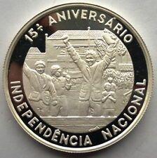 St Thomas Prince 1990 Independence 1000 Dobras Silver Coin,Proof
