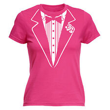 Tuxedo WOMENS T-SHIRT - Tee Tie Hen Do Party Bachelorette Funny birthday gift