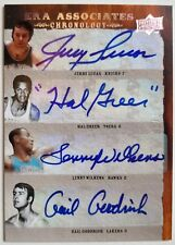 Gail Goodrich, Lenny Wilkens, Hal Greer, Jerry Lucas quad signed #05/15 auto