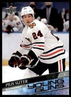 2020-21 UD Series 2 Base Young Guns #484 Pius Suter RC - Chicago Blackhawks