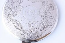 Sterling Silver DRAGO CINESE IN POLVERE COMPATTO Lee Yee Hing c1930
