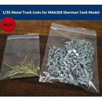 1/35 Metal Track Links for M4A3E8 Sherman Tank Model w/metal pin Need Assemble