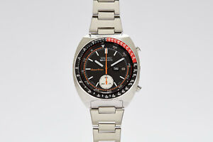 Seiko 6139-6032 Coke Chronograph Speed Timer Automatic Black and Red SpeedTimer