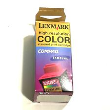 Lexmark 12A1980 Color High Resolution Ink Cartridge NEW