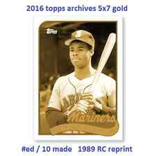 Ken Griffey Jr Mariners #/10 MADE 2016 Topps Archives 65th Anniversary 5X7 GOLD