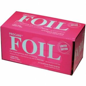 Professional Procare pink Foil - 100m hairdressing hair highlights colouring