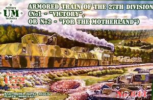 """UM Technics 1:72 """"Victory"""" Or """"For The Motherland"""" 27th Armoured Train Model Kit"""