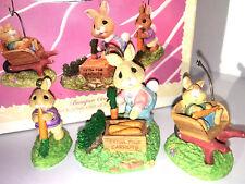 HALLMARK Keepsake 1997 BUMPER CROP Bunny Rabbit EASTER or CHRISTMAS ORNAMENT VTG