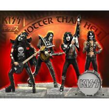 ROCK ICONZ Kiss Hotter Than Hell EDIZIONE LIMITATA Set 4 Statue  KNUCKLEBONZ