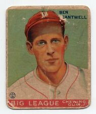 1933 Goudey Baseball #139 Ben Cantwell RC (Braves)