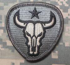Bull Skull Texas Star Usa Army Military Acu Velcro® Brand Fastener Patch