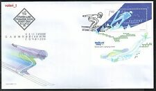 2014 Bulgaria Winter Olympic games Sochi ski Jump Souvenir sheet FDC