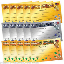 CP19 - Pack of 120 Gold, Silver and Bronze A5 Certificates