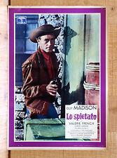 LO SPIETATO fotobusta poster Guy Madison Valerie French Hard Man Western L54