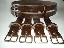 Classico vintage carrozzina vero pelle cinghie di sospensione in marrone