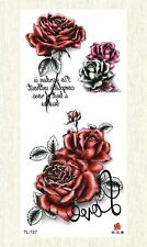 body decal rose flower temporary tattoo
