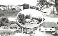 Vintage Real Photo Multi View Postcard, Greetings from Tawstock, Devon 18X