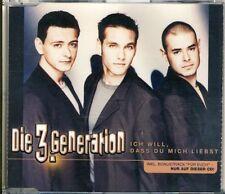 La generazione 3. - Voglio che tu mi ami 4 TRK CD MAXI 2000