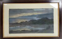 CLIFF LANDSCAPE. DRAWING THE PASTEL ON PAPER. PERE BORRELL. TWENTIETH CENTURY.
