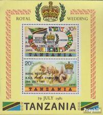tanzanie Bloc 24 (complète edition) neuf avec gomme originale 1981 mariage princ