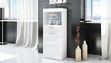 Large Cabinet Cupboard Tall Display Kitchen Living Room White Matt High Gloss