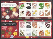 Japan 2019 Japanese Traditional Color Series 3 stamp S/S X 2