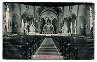 Early 1900s St. Patrick's Church Interior, Escanaba, MI Postcard *6J15