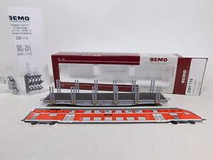 CU739-0,5# Bemo H0m/DC 2281 110 Rungenwagen/Güterwagen Sp-w 8360 RhB, NEUW+OVP