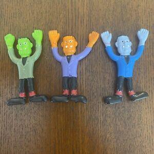 Lot Of 3 New Vintage frank n bend mini bendables by russ  Frankensteins
