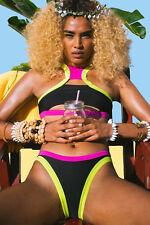 Costume Da Bagno Aperto Bikini Lacci Multicolore slim sling Swimwear Swimsuit L