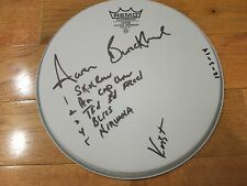 Nirvana signed drumhead by 2 coa + exact Proof! Krist Novoselic autograph