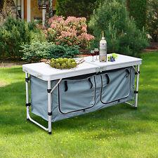 Picnic Table pliante portable Hauteur réglable Aluminium Outdoor Dining Camping