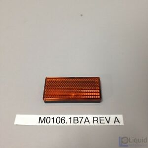 Erik Buell EBR Motorcycle REFLECTOR ASSEMBLY, FRONT, AMBER (M0106.1B7A Rev A)