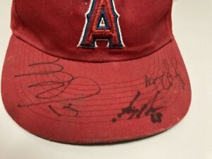 MIKE TROUT SIGNED CALIFORNIA ANGELS HAT - G MAHLE & J GIAVOTELLA - JSA LETTER
