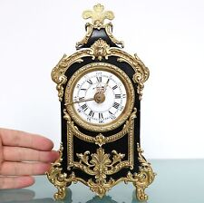 JAPY FRERES Antique Baby ALARM TOP! Clock Mantel EXTREMELY RARE Neuchatel French