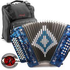 Rossetti 3112 GCF Sol 31 Button 12 Bass Diatonic Accordion BLUE + Padded Gig Bag