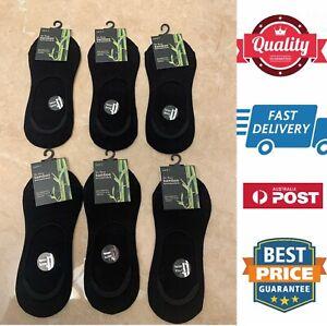 4 pairs Mens Premium 92% Bamboo socks footlet socklet,black,size 6-11,AU stock